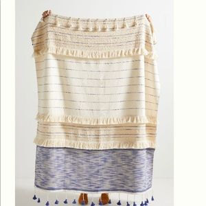 Anthropologie Embellished Nayo Throw Blanket